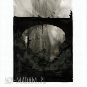 dom abstrakcja obrazy zestaw 2 grafik 30x40 cm wykonanych