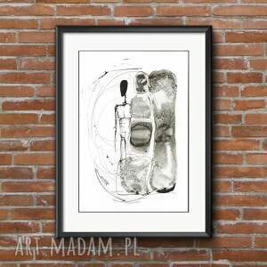 niepowtarzalne dom abstrakcja-obrazy zestaw 2 obrazów a3 namalowanych