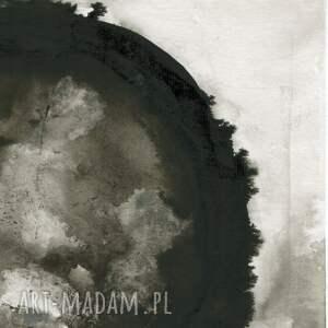 obrazy-ręcznie-malow dom szare zestaw 2 obrazów a3 namalowanych