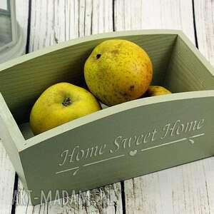 drewniany pojemnik home sweet
