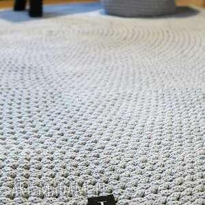 wyjątkowe ręcznie dywan okrągły ze sznurka 140 cm