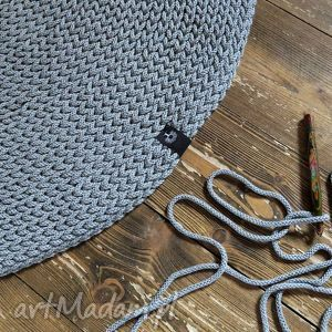 wyjątkowe rękodzieło dywan okrągły ze sznurka 140 cm