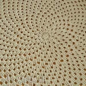dywan dywany żółte ażurowe koło