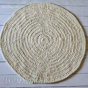 dywany chodnik bawełniany dywan ecru