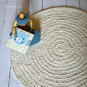 handmade dywany dywan bawełniany ecru