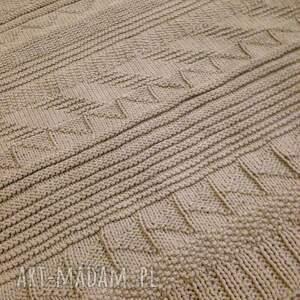 dywany rękodzieło beżowy dywan ze sznurka