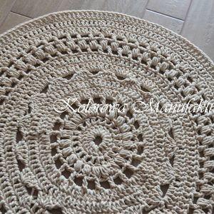 Dywan Ażur - bawełniany ze sznurka szydełko - ażurowe