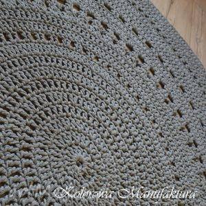szare chodnik dywan ażur grey 160