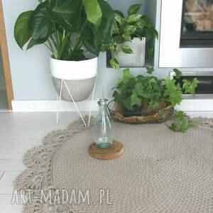 carpet dywan bawełniany z koronką 120