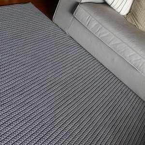 hand-made dywany dywanzesznurka dywan dziergany loft - szary