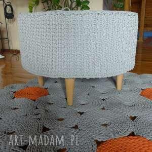 pleciony dywany dywan dziergany krążki