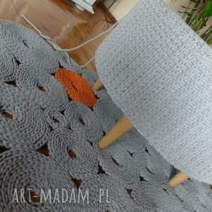 pomarańczowe dywany dywan dziergany krążki