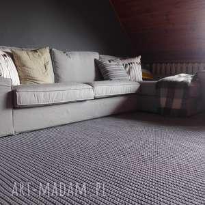 szydełkowy dywan dziergany loft - szary