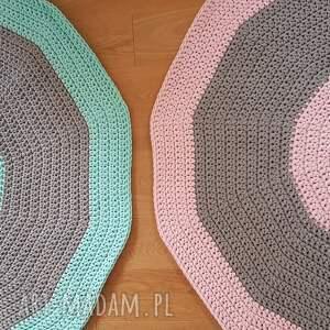 kolo dywany dywan na szydelku 120 cm