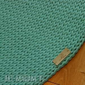 szydełko dywan okrągły ze sznurka round