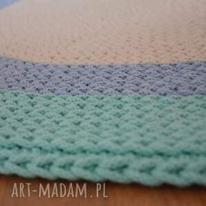 niebieskie do pokoju dziecięceg dywan okrągły ze sznurka