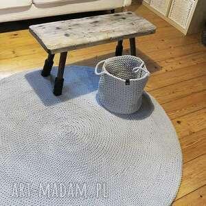 ręcznie dywany dywan okrągły ze sznurka 140 cm