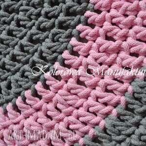 wyjątkowe dywany dywan okrągły grey pink 80cm
