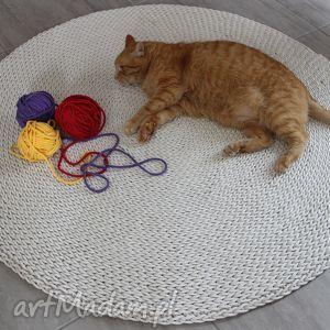 pleciony dywan okrągły ze sznurka round