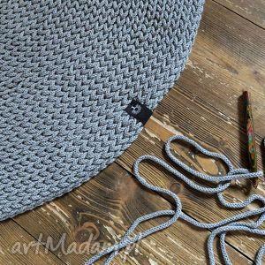 dywany rękodzieło dywan okrągły ze sznurka 140 cm