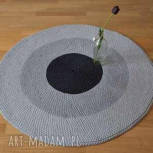 dywan dywany szare okrągły ze sznurka