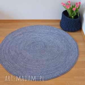 białe dywan ze sznurka okrągły ze - melanż