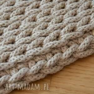 szydełko dywan okrągły ze sznurka