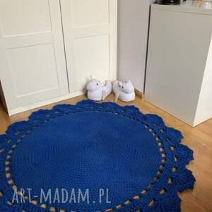Dywan pleciony ręcznie koronka A 120 cm - dywandziergany