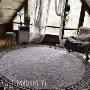 dużydywan dywan ręcznie pleciony koronka