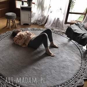 szare dużydywan dywan ręcznie pleciony koronka
