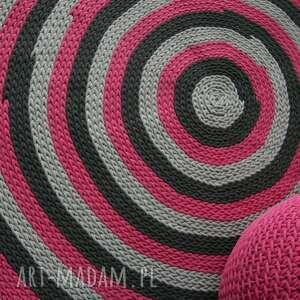 amarantowy dywan średnica 160 cm