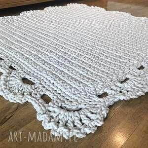 atrakcyjne dywanik dywan z koronką kwadrat