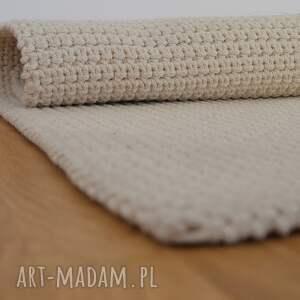 białe dywan ze sznurka bawełnianego
