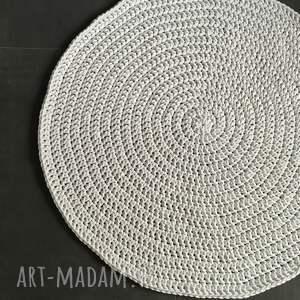 hand-made dywany dywan ze sznurka bawełnianego biały