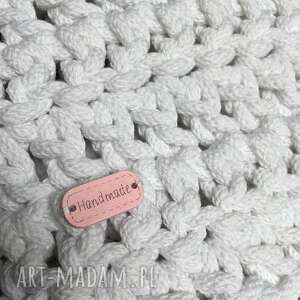 chodnik dywan ze sznurka bawełnianego biały