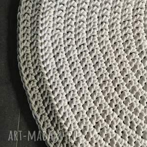 białe dywan ze sznurka bawełnianego biały