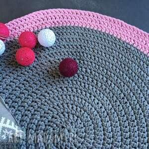różowe dywany dywan ze sznurka bawełnianego szary