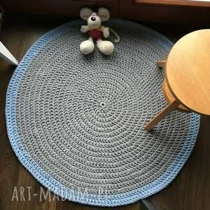 niebieskie dywany dywan ze sznurka bawełnianego szary