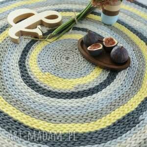 wyjątkowe żółty kolorowy dywan 100