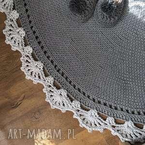 hand-made dywany dywan okrągły bawełniany ze sznurka