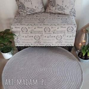 niepowtarzalne dywan okrągły ze sznurka