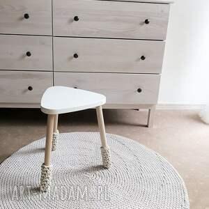 dywany rękodzieło okrągły dywan z bawełnianego