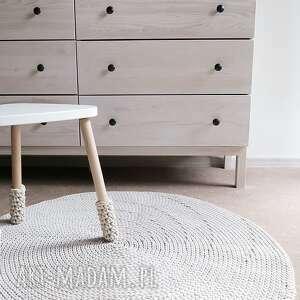 szare dywany rękodzieło okrągły dywan z bawełnianego