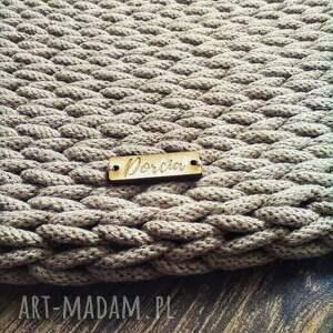 urokliwe dywan ze sznurka okrągły - model
