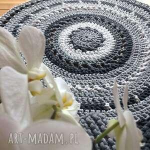 dywan ze sznurka okrągły azur o średnicy