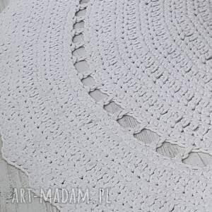 intrygujące dywan okrągły dywanik/kolor ecru/ śr.