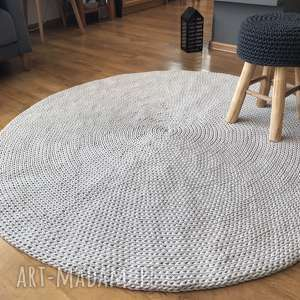 chodnik dywanowy okrągły dziergany dywan basic 140