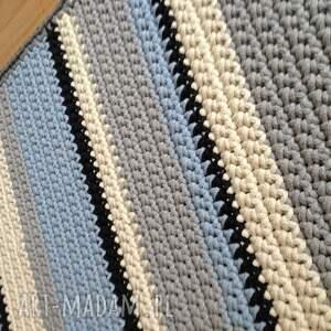 dywany rękodzieło podłużny pasiak 155cm x