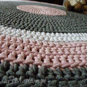 frapujące dywan ręcznie robiony okrągły