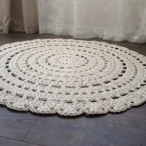 dywany dywan ręcznie robiony okrągły ze
